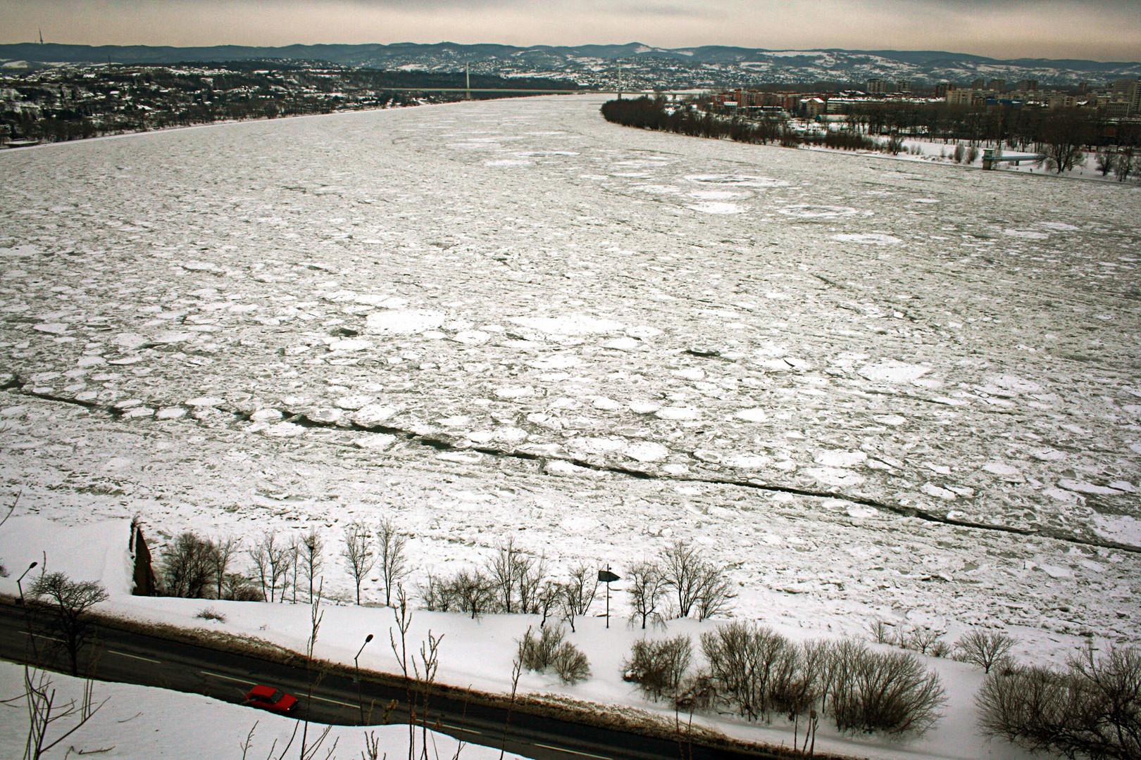 Na lepom zaleđenom Dunavu