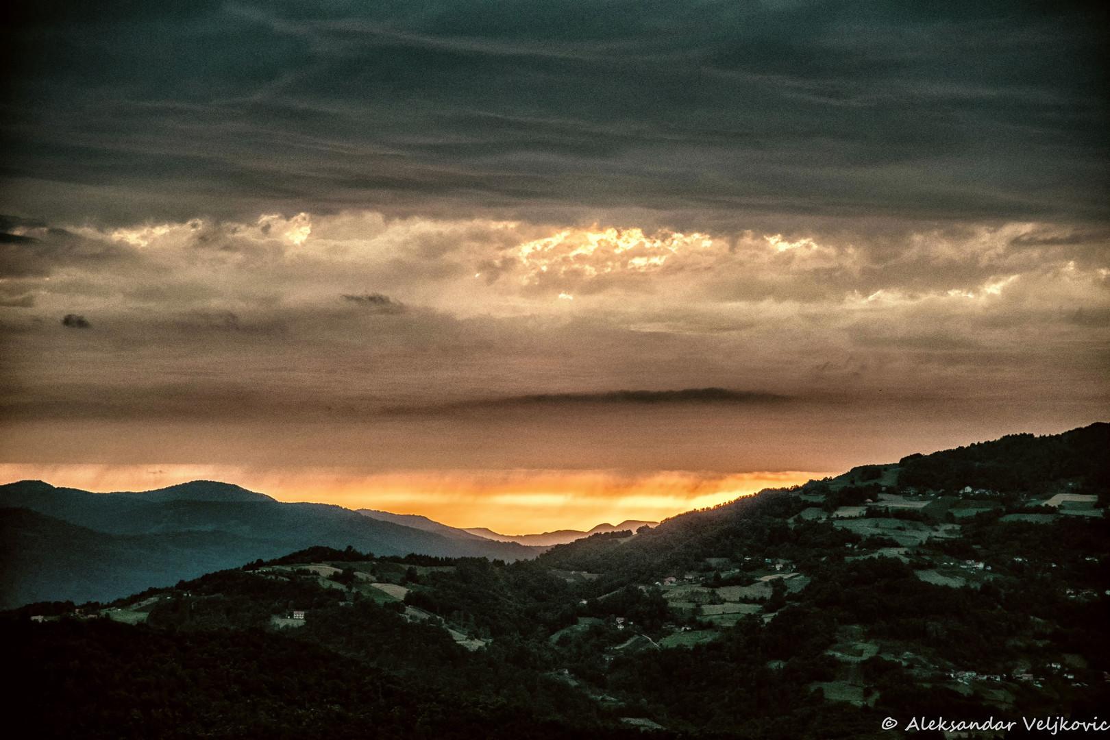 Zalazak nad Drinom