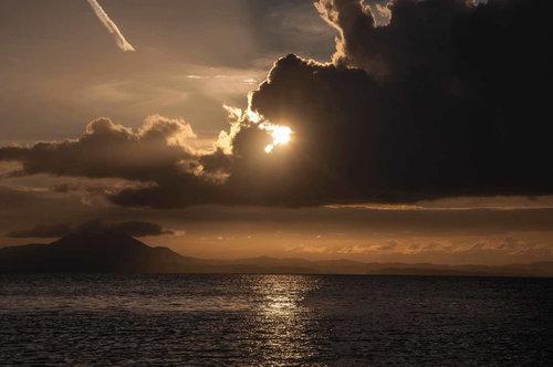Bluealek Obale Krfa u predvečerje