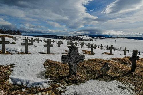 Bluealek Spomen groblje na vrhu Javora