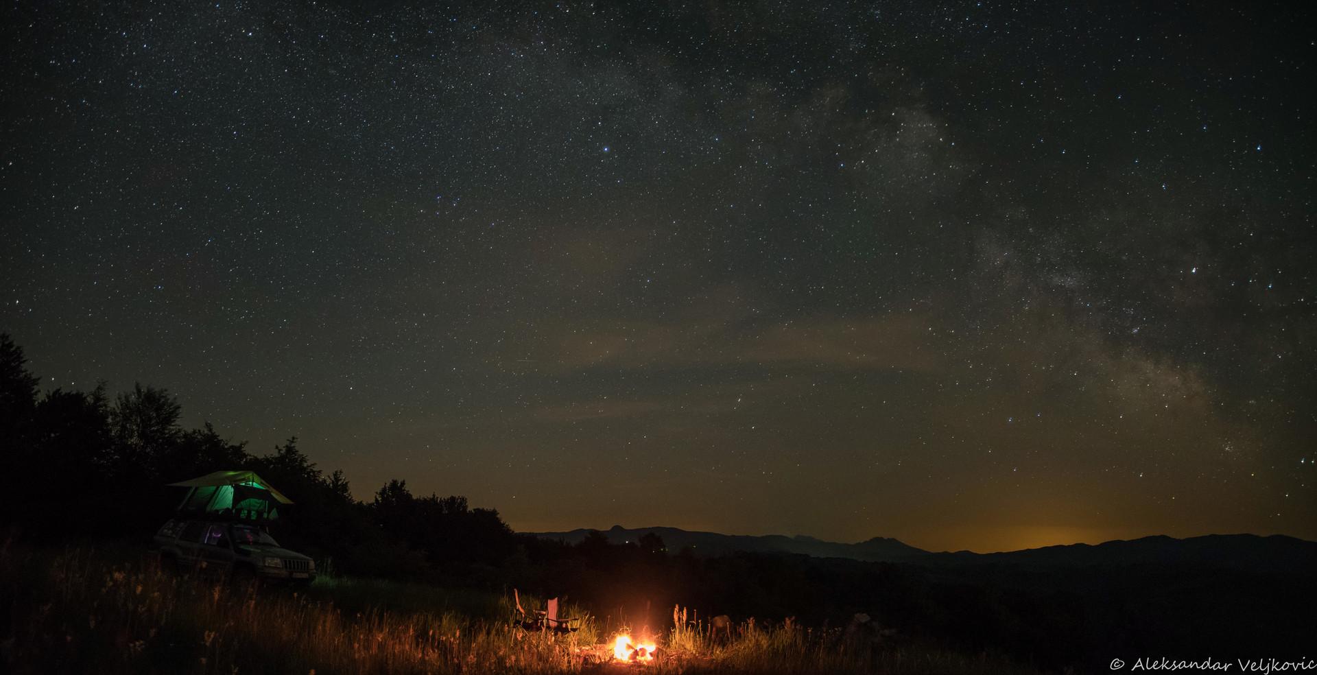 Noćna panorama Homolja sa Breze
