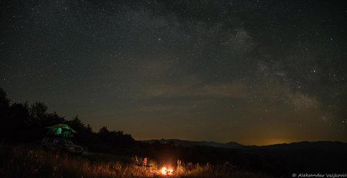 Bluealek Noćna panorama Homolja sa Breze