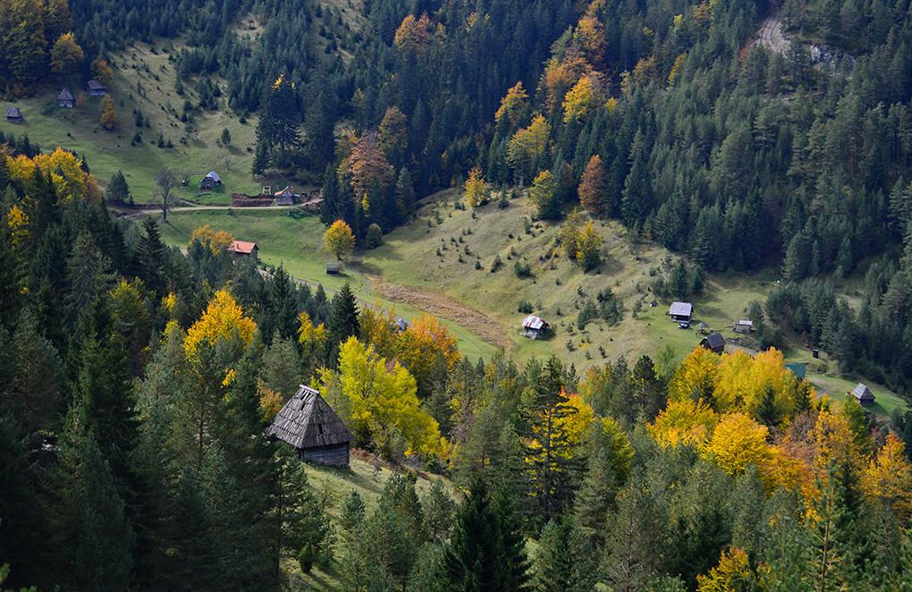 Jesen na planini u dolini.
