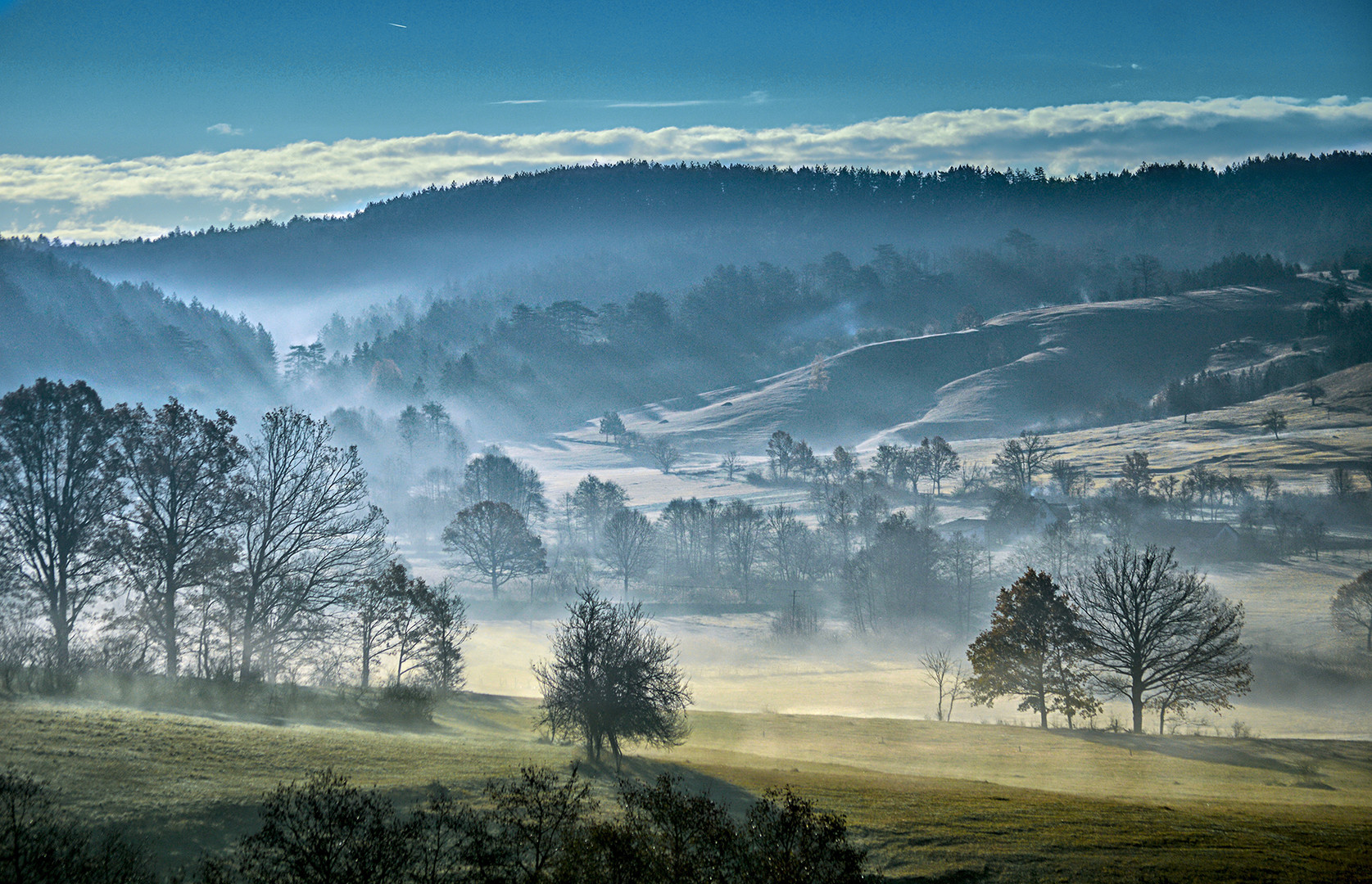 Jutarnja magla ,okolina Tare.