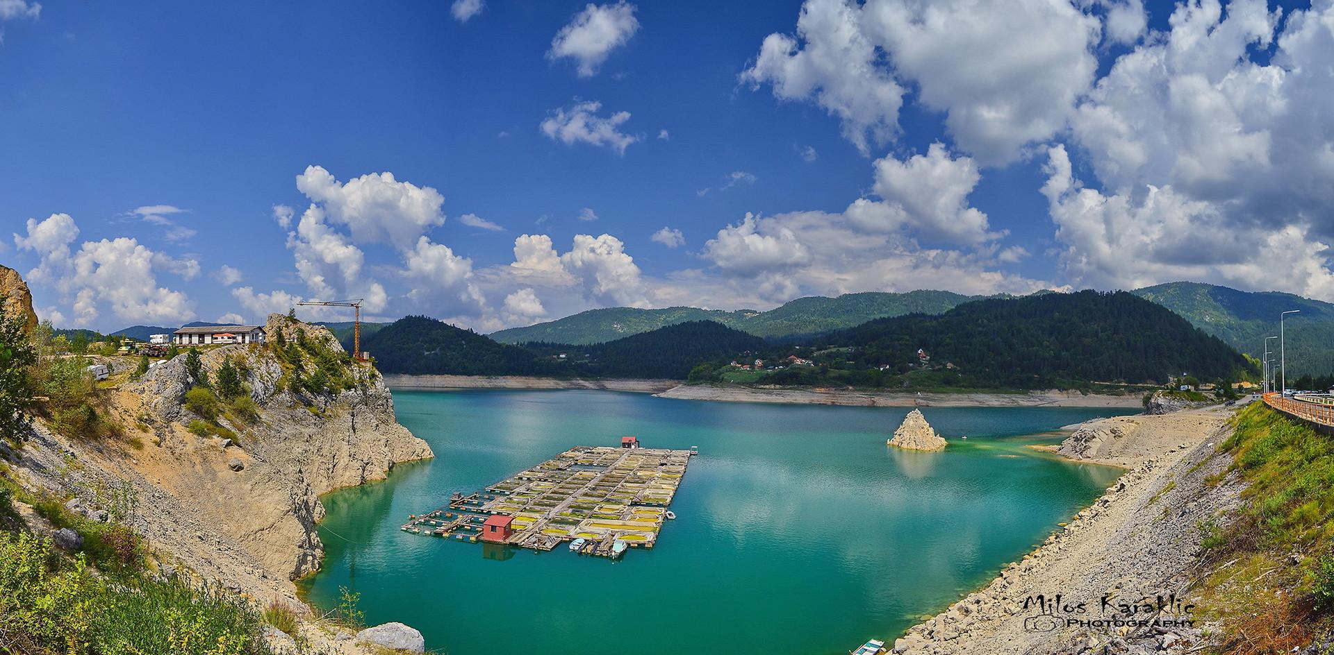 Panorama jezera Zaovine