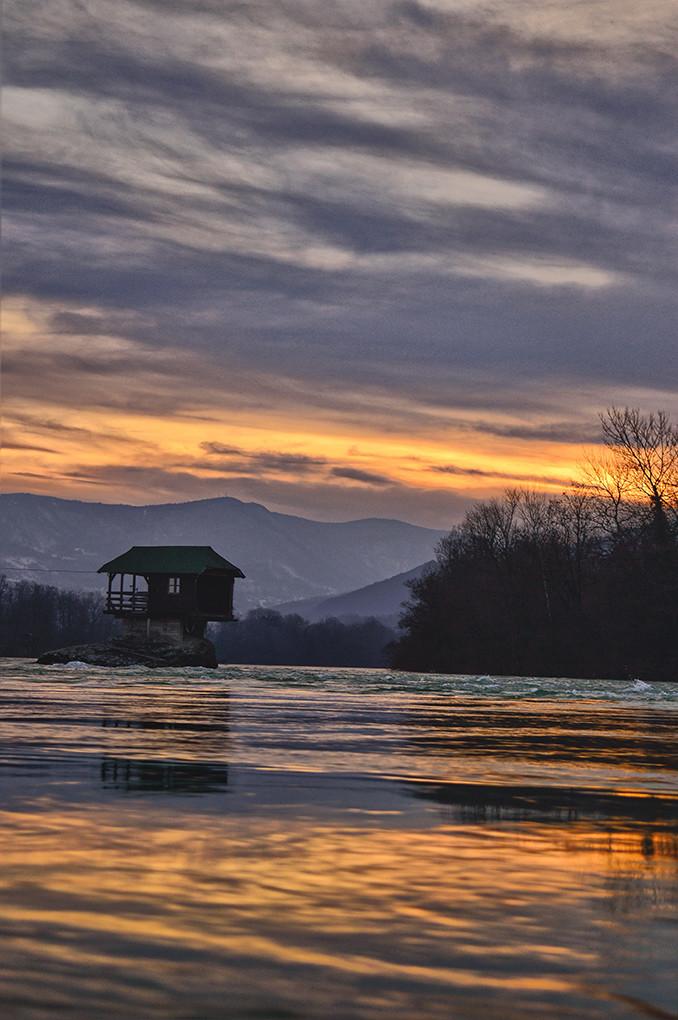 Zalazak sunca na Drini