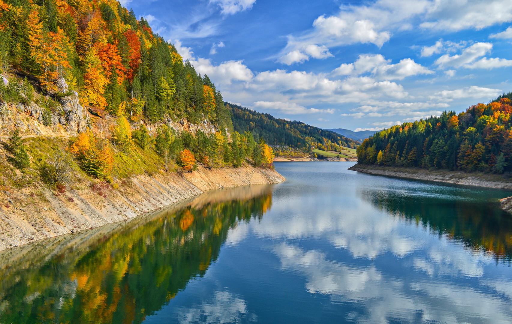 Jesen na jezeru Zaovine -Tara