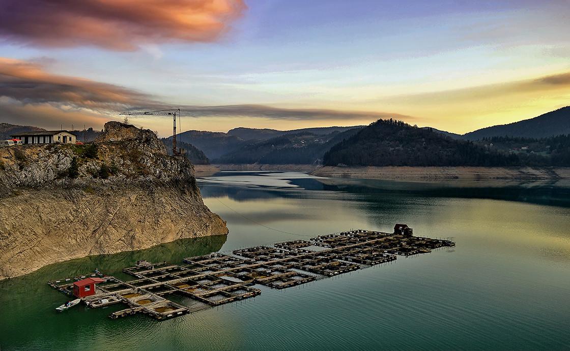 Vecernja romansa- jezero Zaovine