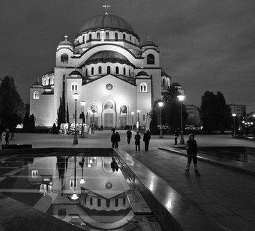 Grimasa Hram Svetog Save u vreme kada ne radi fontana