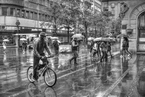 Grimasa Kiša u Knez Mihajlovoj ulici