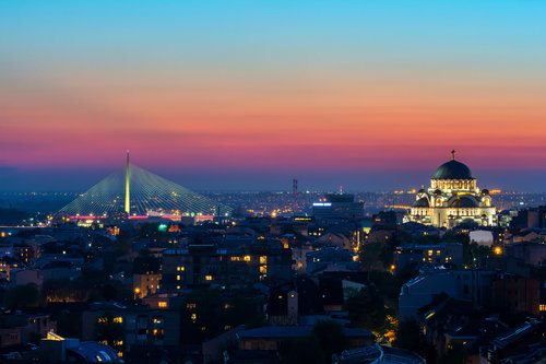 Nedomacki Belgrade and blue hour