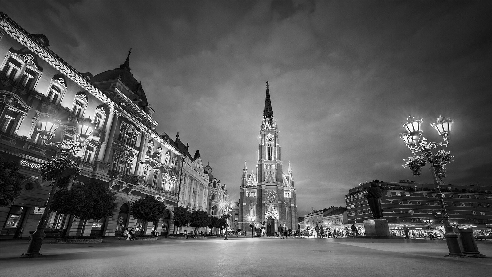 Freedom Square at night...