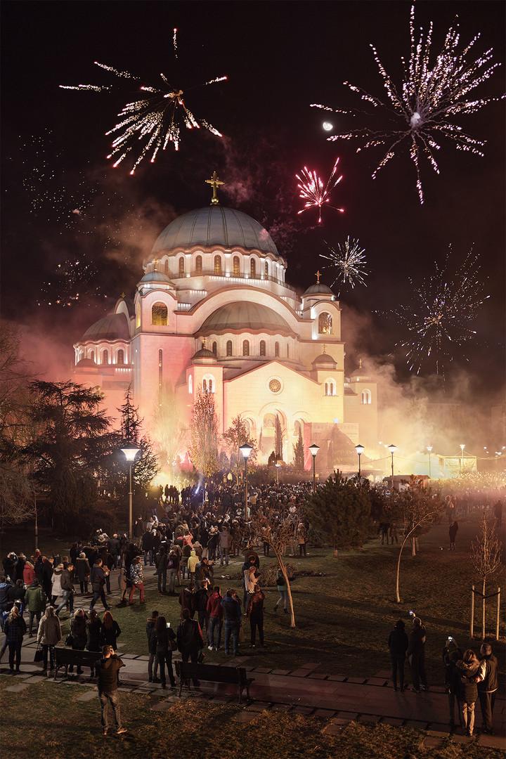 Christmas night in Serbia...