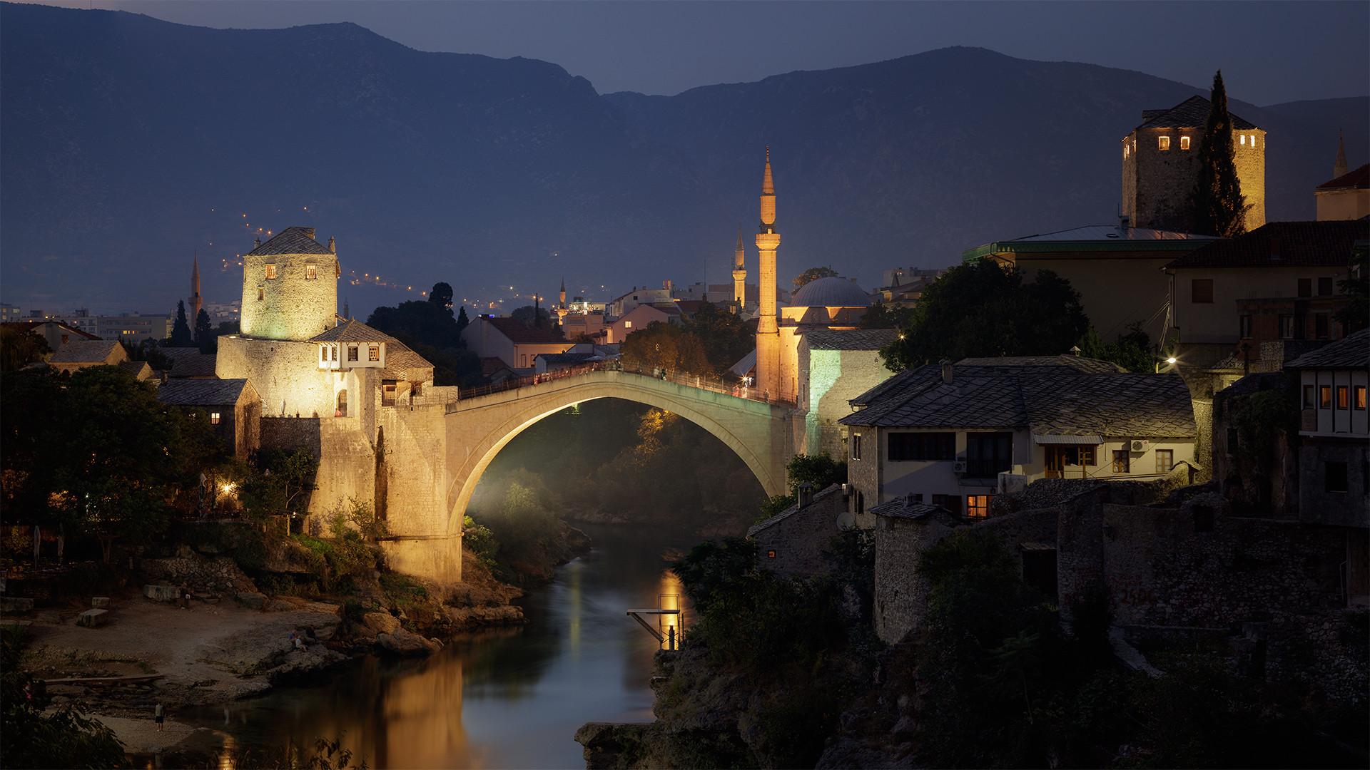 Evening in Mostar...