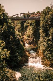 Pukylly Bridge on river Dobra
