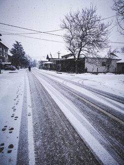 Vrakiphoto Snowy street