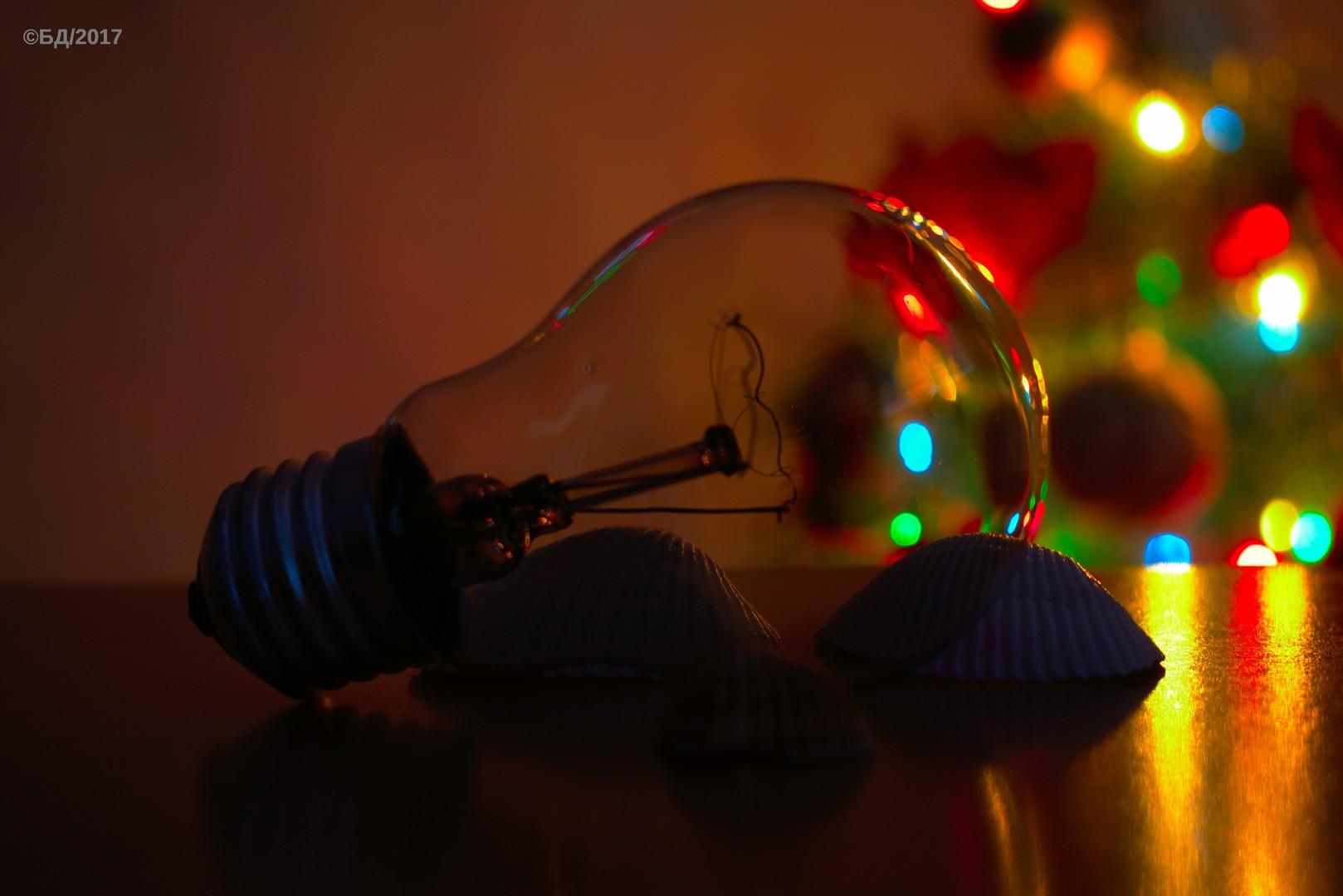Bulb and a Christmas tree