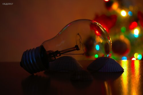 acrydb Bulb and a Christmas tree