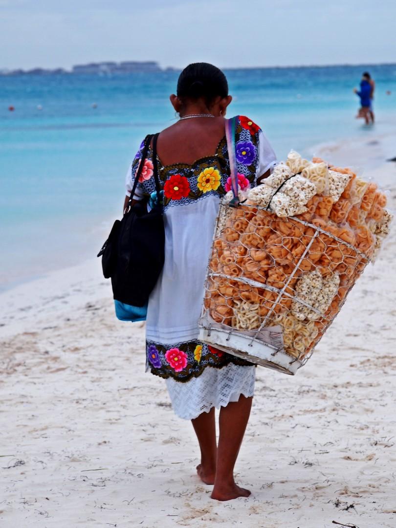 prodavačica na plaži