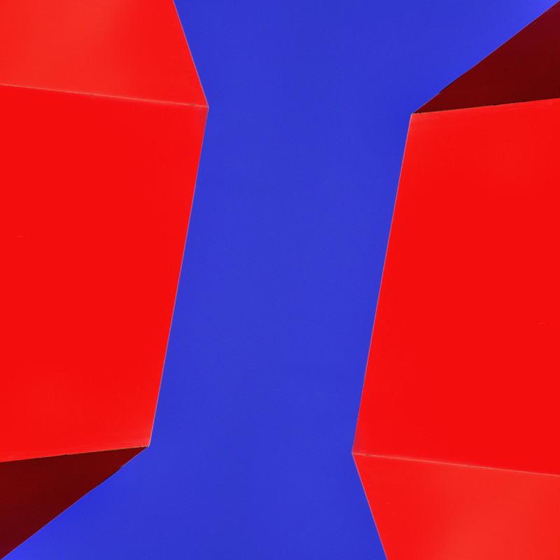 red and blue abstract