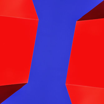 anaumceski red and blue abstract