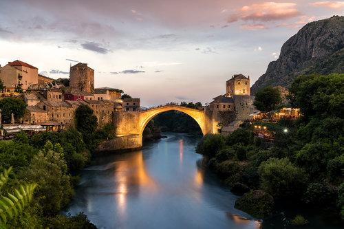 bezdan Mostar sunset