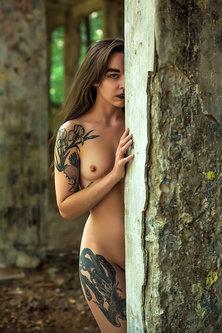 blackbird Žena s tetovažom