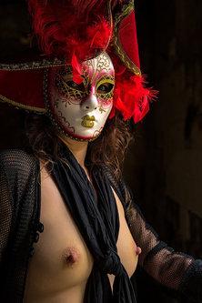 blackbird Portret maske