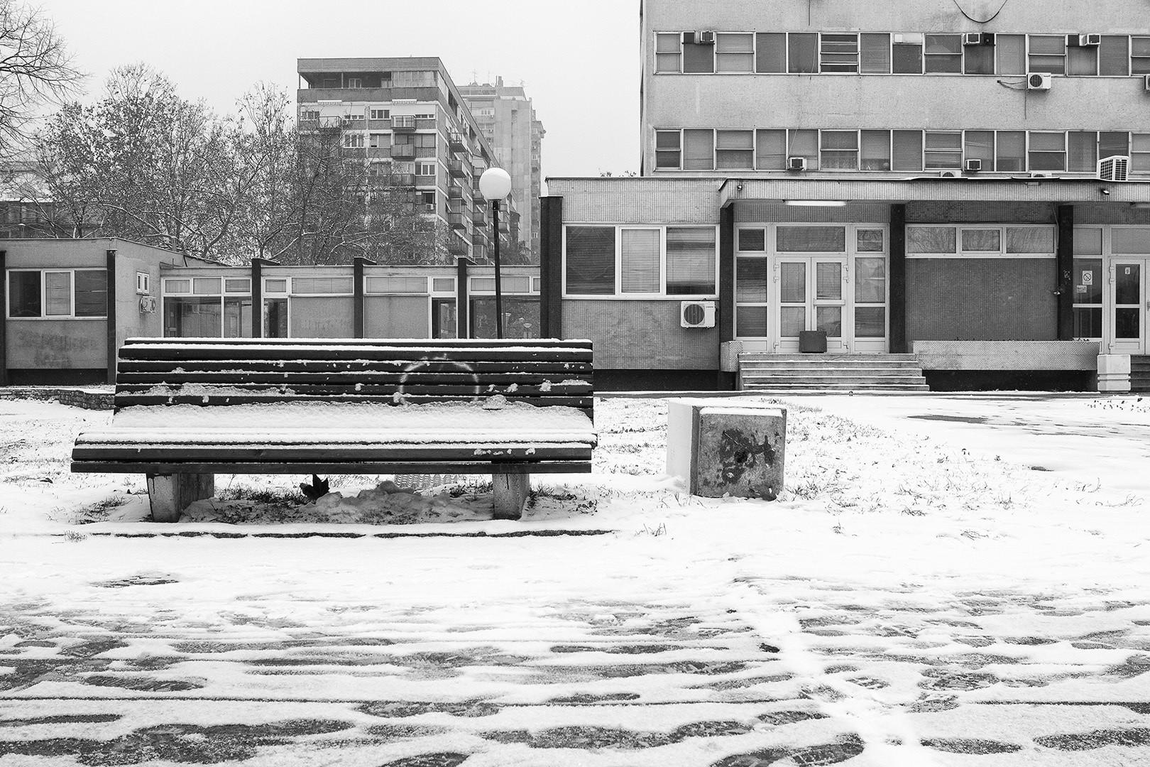Novi Beograd i sneg