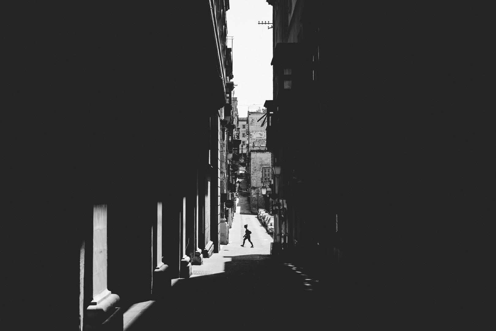 Monochrome street