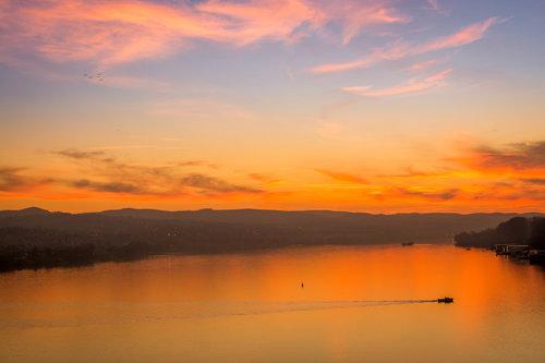freetimephoto Zalazak sunca na Dunavu