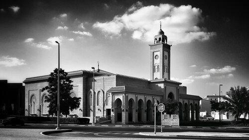 petarlackovic Mosque in B&W