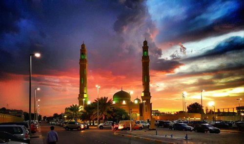 petarlackovic Mosque in the sunset