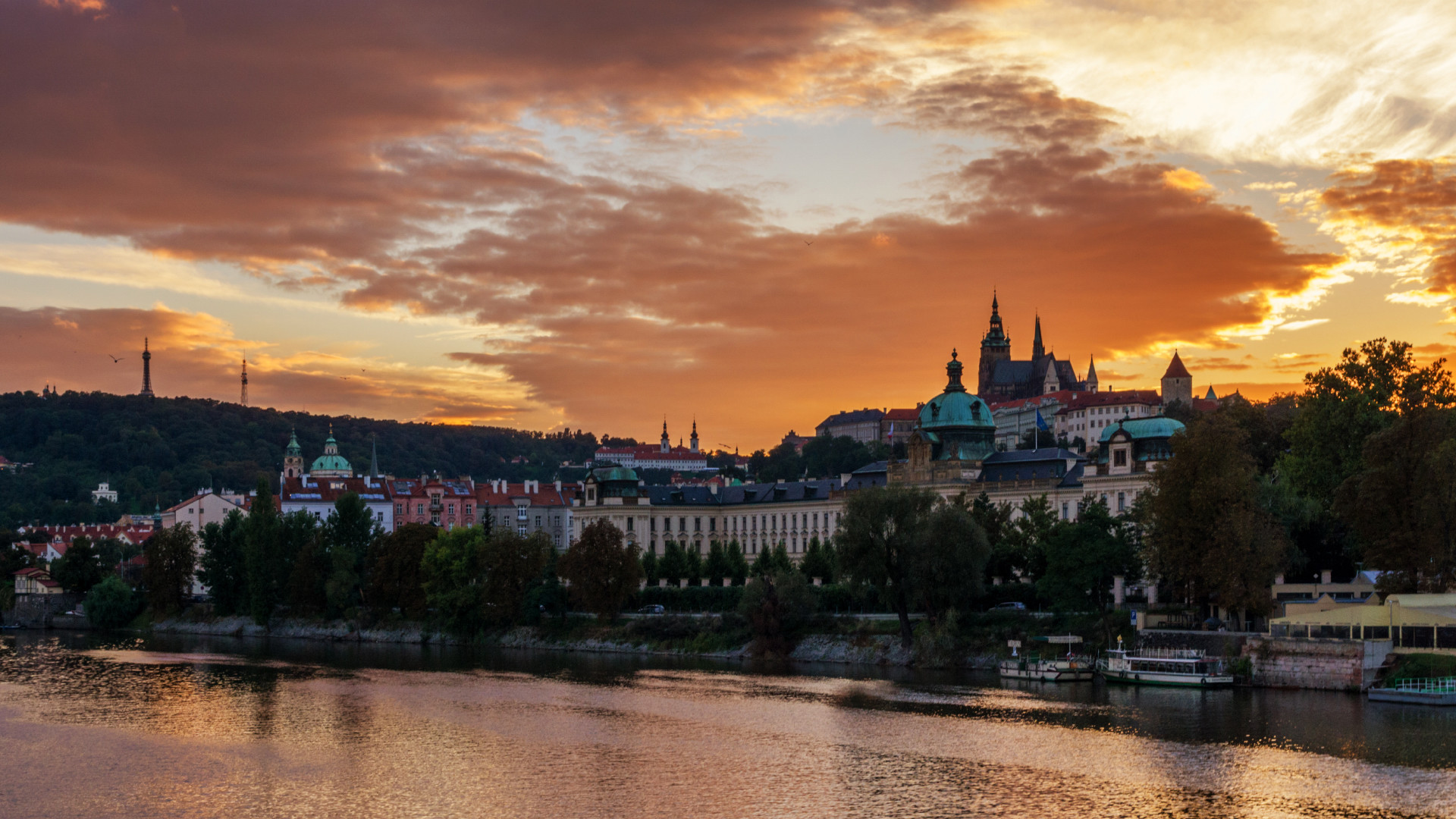 Sunset on the Vltava