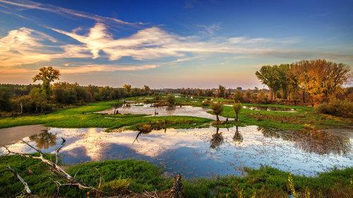 petarlackovic Zalazak na reci u jesen