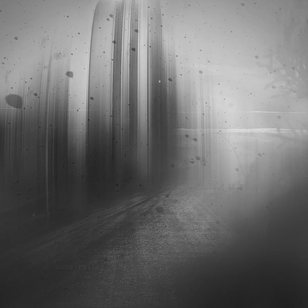 ...grayscale city...