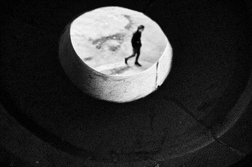sunny man on the moon